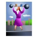 Mujer fuerte postal