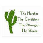 Mujer fuerte tarjetas postales