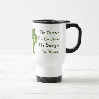 Mujer fuerte taza de café
