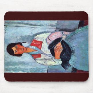 Mujer gitana con el niño de Modigliani Amedeo Alfombrilla De Ratón