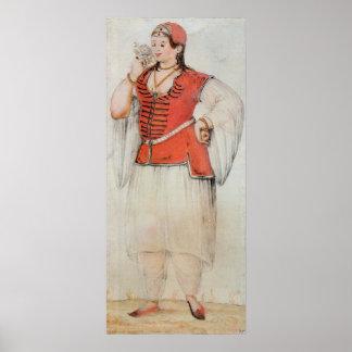 Mujer griega o turca posters