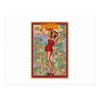 Mujer Havana: Vintage Cubano La Habana Postal