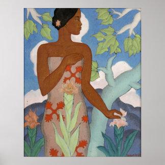 Mujer hawaiana - Arman Manookian Póster
