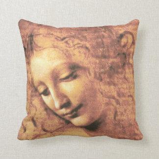 Mujer hermosa de Leonardo da Vinci Almohadas