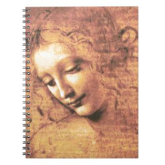 Mujer hermosa de Leonardo da Vinci Cuaderno