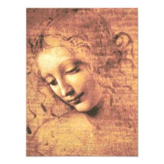 Mujer hermosa de Leonardo da Vinci Cojinete