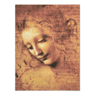 Mujer hermosa de Leonardo da Vinci Poster