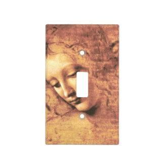 Mujer hermosa de Leonardo da Vinci Tapas Para Interruptores