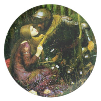 Mujer hermosa del Waterhouse sin la placa de la mi Plato Para Fiesta
