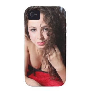 Mujer hermosa iPhone 4 fundas