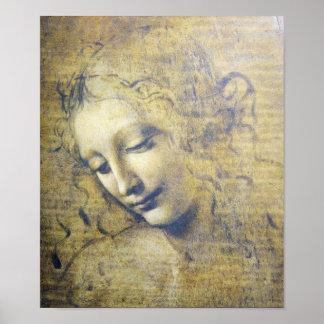 Mujer hermosa por la impresión de Leonard Davinci Póster