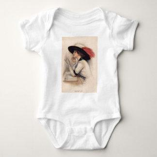 Mujer hermosa que vota - moda del sufragio del body para bebé