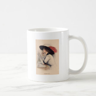 Mujer hermosa que vota - moda del sufragio del taza clásica