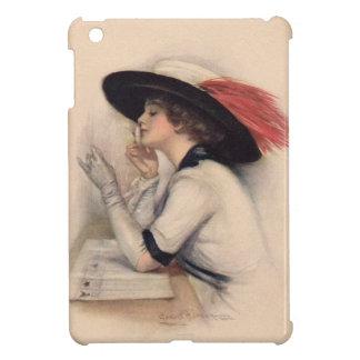 Mujer hermosa que vota - moda del sufragio del vin iPad mini fundas