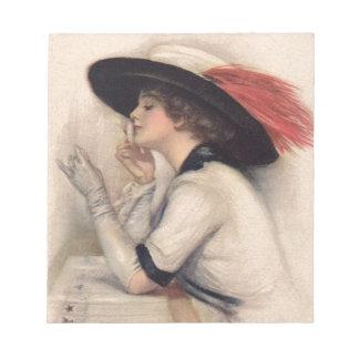 Mujer hermosa que vota - moda del sufragio del vin libreta para notas