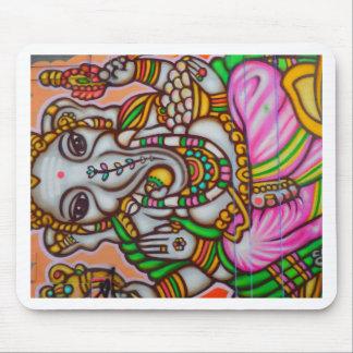 Mujer hindú del elefante alfombrilla de ratón