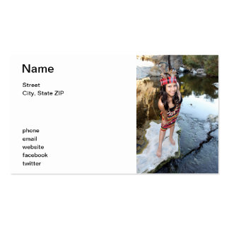 Mujer india tarjetas de visita