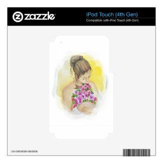 Mujer iPod Touch 4G Calcomanías