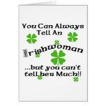 Mujer irlandesa - usted puede decir siempre… tarjeton