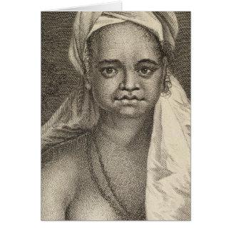 Mujer, islas de Marquesas de la isla de Tahuata Tarjeta De Felicitación