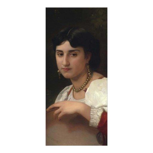 Mujer italiana de Guillermo Bouguereau- con pander Diseño De Tarjeta Publicitaria