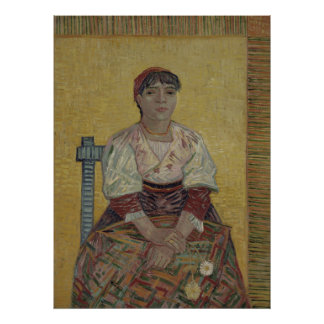 Mujer italiana de Vincent van Gogh Posters