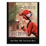 Mujer italiana del chocolate de Squisito Cioccolat Tarjeta Publicitaria
