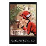 Mujer italiana del chocolate de Squisito Cioccolat Flyer Personalizado