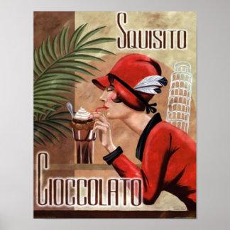 Mujer italiana del chocolate de Squisito Cioccolat Póster