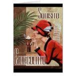 Mujer italiana del chocolate de Squisito Cioccolat Felicitaciones