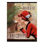 Mujer italiana del chocolate de Squisito Postal