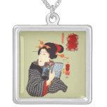 Mujer japonesa 2 de lectura joyerías