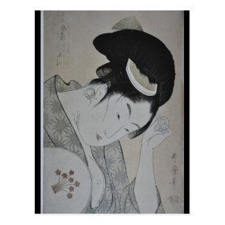 Mujer japonesa circa 1793-1794 postal