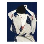 Mujer japonesa clásica de la señora del pelo de Ta Tarjeta Postal