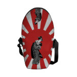 Mujer japonesa del ukiyoe del estilo tradicional bolsa de mensajería