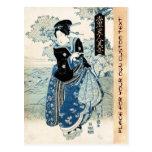 Mujer japonesa fresca de la señora del geisha del  postal