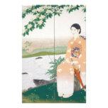 mujer japonesa  papeleria de diseño