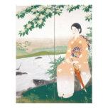 mujer japonesa tarjetas informativas