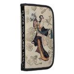 Mujer japonesa y marioneta del ukiyo-e clásico del organizador