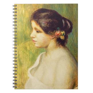 Mujer joven con las flores en su oído, 1898 (aceit spiral notebooks