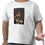 Mujer joven con un Veena Camiseta