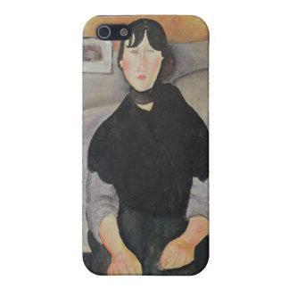 Mujer joven de la gente iPhone 5 carcasas