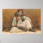 Mujer joven de Túnez 1910 Poster
