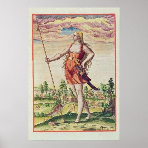 Mujer joven de una tribu vecina a posters