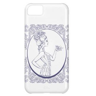 mujer joven del estilo rococó alineada funda iPhone 5C