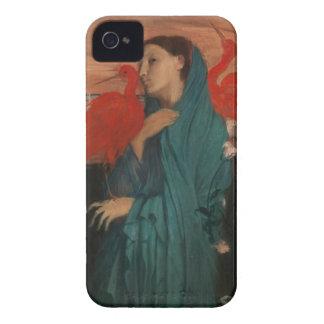 Mujer joven e Ibis, Edgar Degas iPhone 4 Case-Mate Protectores