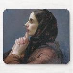 Mujer joven en el rezo, 1879 (aceite en lona) tapete de raton