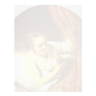 Mujer joven en la cama (posiblemente Geertje) por Membretes Personalizados