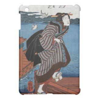 Mujer joven en Sanbashi, Utagawa Kuniyoshi