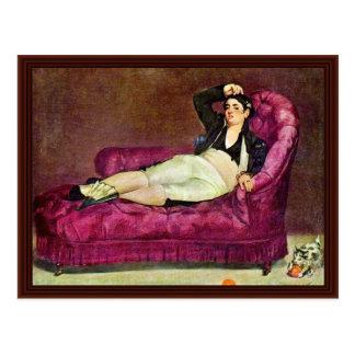 Mujer joven en traje español de Manet Eduardo Postales
